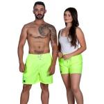 Short Bermuda Praia Summer Kit Casal Selten Verde Neon