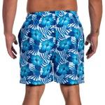 short tactel Masculino Summer Floral Azul - Selten