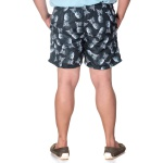 Short Masculino Plus Size Tactel Preto Abacaxi Selten