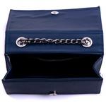Bolsa Clutch Marinho Pequena de lado Alça de corrente Verona