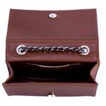 Bolsa Clutch Marrom Pequena de lado Alça de Corrente Verona
