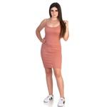Vestido Feminino Canelado Rose - Selten