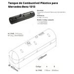 Tanque Combustível Plástico Mercedes Benz 1113 / 1313 - 210 Litros