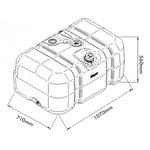 TANQUE PLASTICO FORD CARGO / VW CONSTELLATION / WORKER até Ano 2010 - 275 Litros