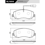 Pastilha Freio Diant Van Renault Master Nova 2.3 2013/ c/sensor PD1439B