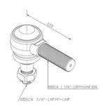 Terminal Direção Barra Longa Ford/VW 12/14/16/26/35 Ton Direito