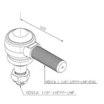 Terminal Direção Barra Longa Ford/ VW 12/14/16/26/35 Ton Esquerdo