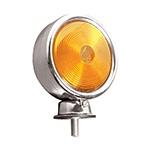Lanterna Traseira 1 Face Foguinho Amarela (cromada)