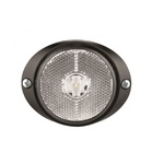 Lanterna LED Lateral Carreta Cristal (66mm C/ Chicote)