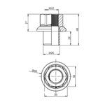 Porca Parafuso Roda 22MM Chave 32 Oscilante Centralizadora H22/49 (guia)