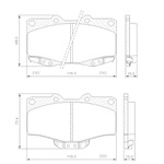 Pastilha Freio Dianteiro Toyota Hilux D4D 4x4 95/