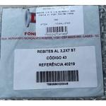 Pacote de Rebite Alumínio 3.2 x 7mm para Lona de freio Linha Fiat/GM