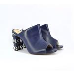 Sandália Azul Marinho e Branca
