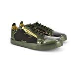Tênis Em Tecido Camuflado e Couro Verde Militar
