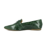 LOAFER BICO FINO CROCO ITALIANO VERDE