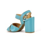Sandália Azul Claro Com Fivela