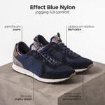 TÊNIS MASCULINO EFFECT BLUE NYLON