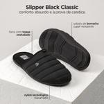 PANTUFA MASCULINA SLIPPER BLACK CLASSIC