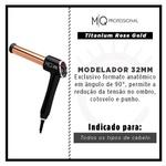 Modelador de Cachos MQ Hair Titanium Rose Gold em L 32mm - Bivolt