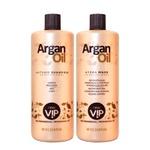 New Vip Argan Oil Escova Progressiva Original Nova Embalagem Kit - 2 x 1 Litro