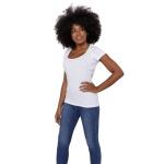 Camiseta Skin Shirt Clássica Branca Feminina