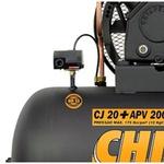 Compressor de Ar Alta Pressão CJ20 + APV 20 Pés 200L 175PSI com Motor Trif CHIAPERINI