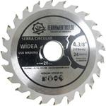 Disco Serra Circular Widea 4.3/8 110mm 24 DENTES FURO 20mm LDI
