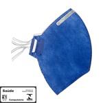 Máscara Respiratória Pff2 N95 Azul Hospitalar Tayco T750