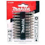 Conjunto Bit Phillips PH2 10 peças D-34366 Makita