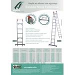 Escada de Alumínio 10 Degraus 3,55x5,65m Ágata Extensiva - ENE 010