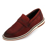 SAPATO SOCIAL POLO CITY OXFORD 142 NOBUCK BORDO
