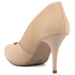 SCARPIN FACTOR FASHION SALTO MEDIO- NOBUCK BEGE