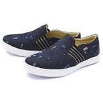 Casual Masculino Shoes Grand 1142/2 Jeans Preto