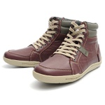 Bota Casual Masculina Shoes Grand 801/3 vinho - Cinza