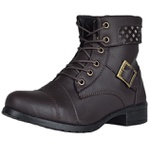KIT BOTA FEMININA CANO CURTO WEST - FIVELA PRETO E CAFE