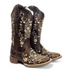 Bota Texana Feminina Marconi Boots 8025 Crazy Horse Café