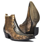 Bota Country Western Vimar Boots 82068 Ouro Light / Jacaré Bronze