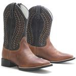 Bota Texana Masculina 924 Crazy Horse Castanho