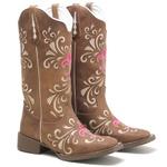 Bota Texana Feminina High Country 7955 Crazy Horse Castanho