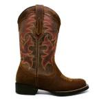 Bota Texana Feminina Fidalgo 23411 Crazy Horse Pinhão