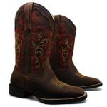 Bota Texana Feminina Fidalgo 24331 Crazy Horse T.Moro