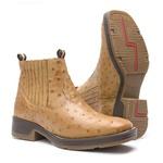 Workboot Strong Shock Vimar Boots 82081 Avestruz Original Conhaque