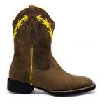 Bota Texana Feminina Fidalgo 24230 Crazy Horse Amêndoa