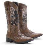 Bota Texana Feminina Vimar Boots Dallas Castor