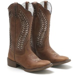 Bota Texana Feminina High Country 1787 Crazy Horse Havana