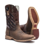 Western Boot TXS Welt Vimar Boots 81300 Dallas Brown + Canivete Xingú