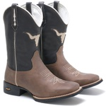 Bota Texana Masculina High Country 7600 Crazy Horse Amêndoa