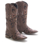 Bota Western Feminina Vimar Boots 13104 Dallas Brown