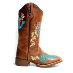 Bota Texana Feminina 1788 Crazy Horse Castanho