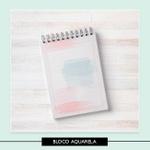 Miolo para bloquinho - Aquarela